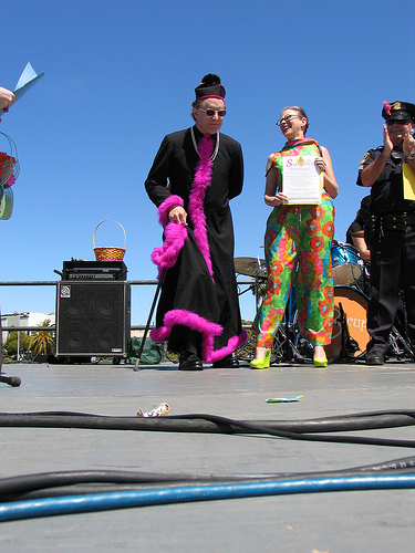 On stage at The Sisters' Dolores Park Easter